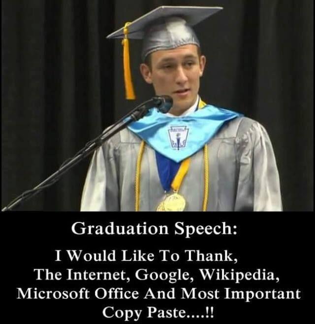 High school graduation speech humor