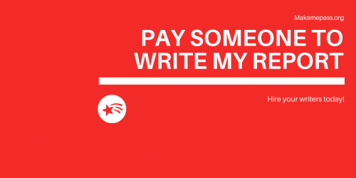 Pay to write my report